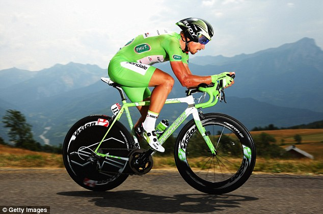 All in green: Green jersey leader Peter Sagan has even dyed his beard green for the final stage...