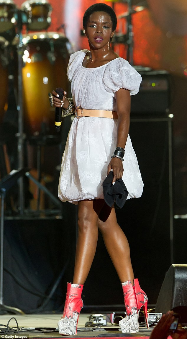 Talented singer: Lauryn, shown performing on July 4, 2012 in Pennsylvania, asked for leniency based on her charity work and estrangement from music