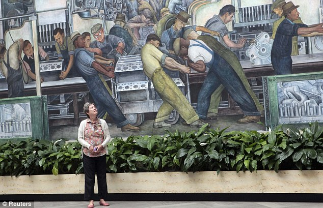A famed Diego Rivera mural is another of the nearly priceless works of art at the DIA