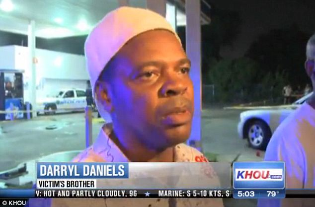 Unanswered questions: The victim's brother Darryl Daniels said that his brother was 'harmless' and he was likely at the gas station to buy cigarettes before heading on a bus
