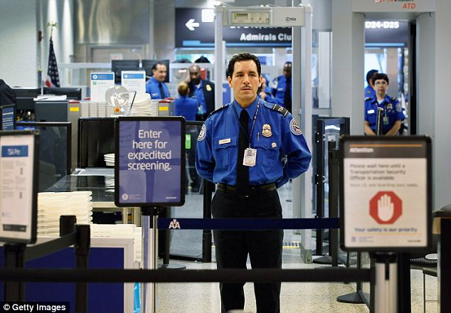 No lines: The expedited screening service will mean that flyers who enroll and pay the fee will face smaller lines and have to disrobe far less than others, theoretically saving time at the airport