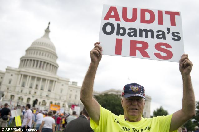 Hard to shake: The IRS's scandal hasn't gone away, with conservatives still peeved that the tax agency targeted right-wing groups for special scrutiny while letting left-wing organizations slide