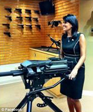 Governor Terminator? Her vetos might be taken more seriously in the state legislature after this photo gets around