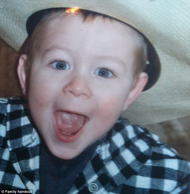 Innocent toddler: Brody Cramer, 3, was found slain in a field not far from his father's truck