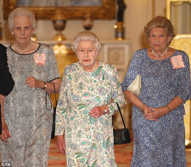 When the Queen, pictured yesterday with her ladies-in-waiting, holds her great-grandson in her arms, she will know that she is handing on a Monarchy in better shape than it has ever been