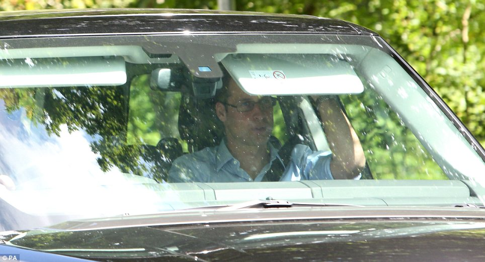 Visit to the in-laws: The couple arrived in Bucklebury this afternoon to stay with the Middletons