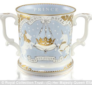 The priciest object in the collection is a hand-finished 'limited edition loving cup', of which only 2,013 will ever be made, which costs £195