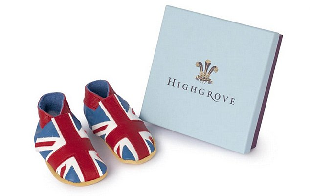 Walk in his shoes: Made from soft leather, Highgrove's £22.50 baby shoes are the perfect commemorative gift