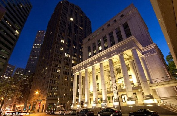 Revamp: The couple renovated San Francisco's old Federal Reserve Building and renamed it Bently Reserve