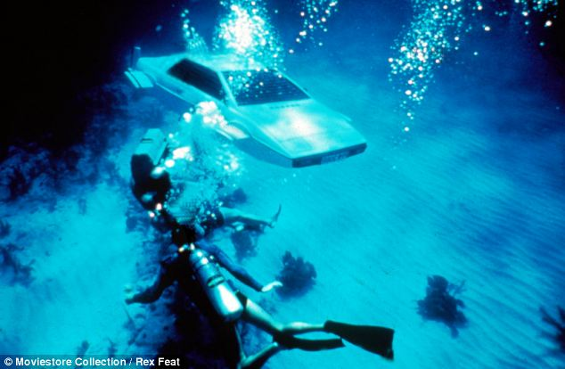 Underwater: The car, nicknamed 'Wet Nellie' during filming, worked as a self-propelled submarine