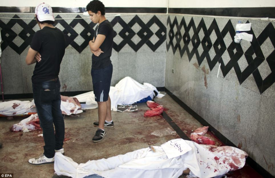 The Muslim Brotherhood are putting the death toll at around 120 people