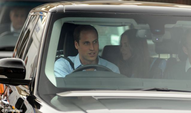 Hands on: Some dismissed Prince William driving his family home from hospital as a publicity stunt, but Jane Atkinson believes it was genuine