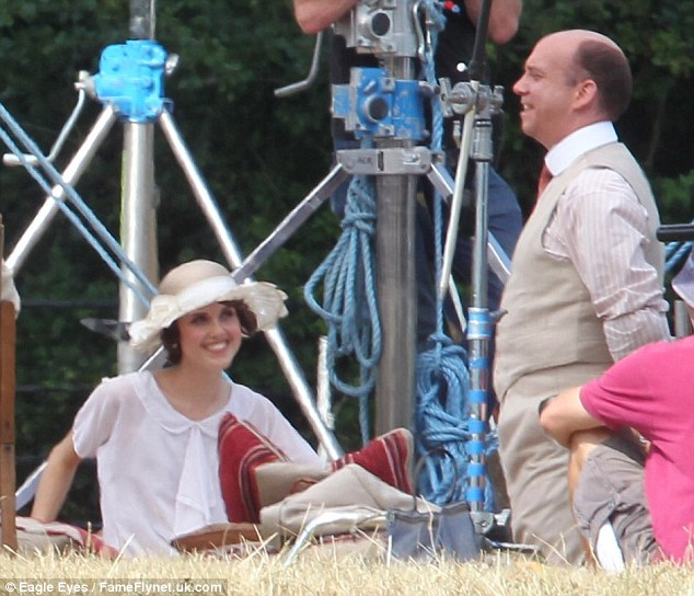 Fresh meat: Paul Giammati joins the cast with young British actress Daisy Lewis