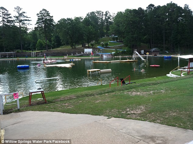 Closed: The owners of Willow Springs Water Park near Little Rock, Arkansas, have shut down the lake after learning of two reported cases of the deadly disease in three years