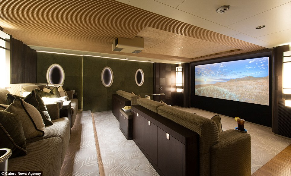 Luxury Yacht Nirvana Spas Cinemas And Even A Reptile