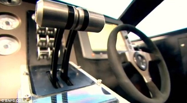Hot rod of the seas: The dashboard was created by the same people who made the Bugatti Veyron's