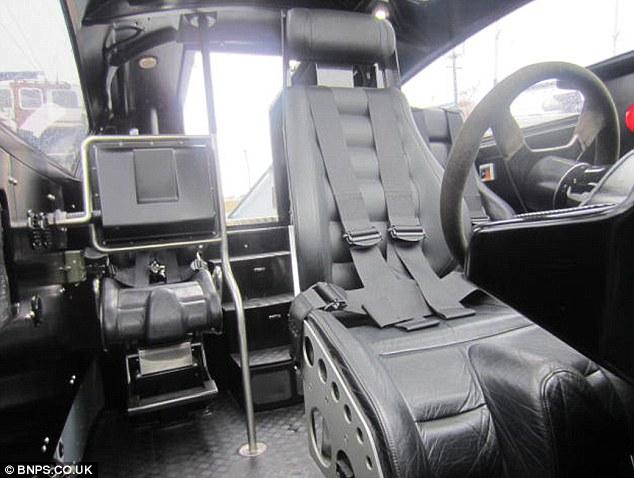 Cockpit: The cabin seats are worth £90,000 alone