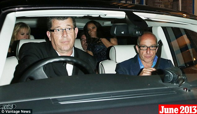 June 25th, 2013: The last images of Cowell and Lauren, leaving London's River Cafe after a night out with Paul McKenna