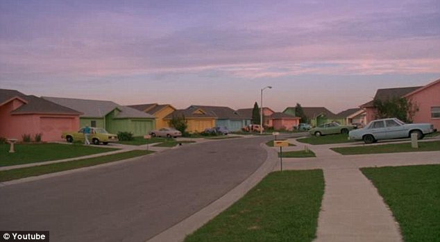 Moving out: Some experts say that the era of cookie-cutter suburban homes (pictured in the movie Edward Scissorhands) that have been iconic of the American dream since the 1950s may be over forever