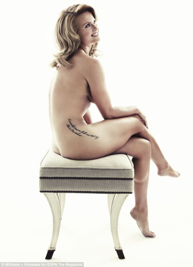 Carly Booth posed nude for a sports magazine before taking part in the Ricoh Women's British Open in St Andrews, Scotland