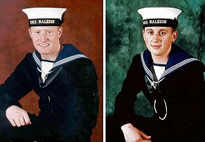 Two Submariners killed in an explosion aboard the HMS Tireless, 32-year-old Paul McCann (left) and 20-year-old Anthony Huntrod