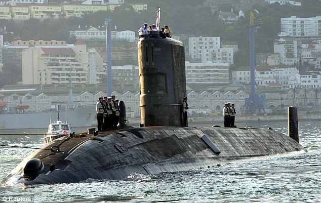 Leak: Tireless, the oldest submarine in the Royal Navy fleet, which entered service in 1984, suffered damage to its circuits earlier this year resulting in a radioactive leak