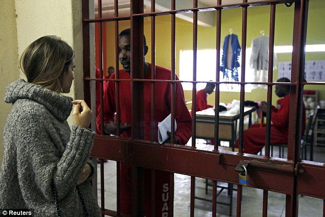 Guidance: Raquel has trained around 100 prisoners to knit and crochet since the initiative started in 2009