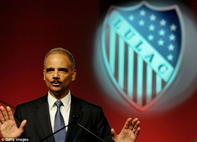 Holder's expense report from his June 28, 2012 speech to the League of United Latin American Citizens in Lake Buena Vista, Florida included $38,108 in 'business and personal' expenses