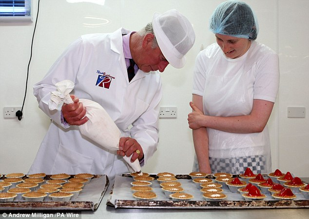 Prince Charles made a good job of piping cream into the strawberry tarts. Reid¿s has been producing shortbread, biscuits and oatcakes since 1966, many of them based on 100-year-old recipes