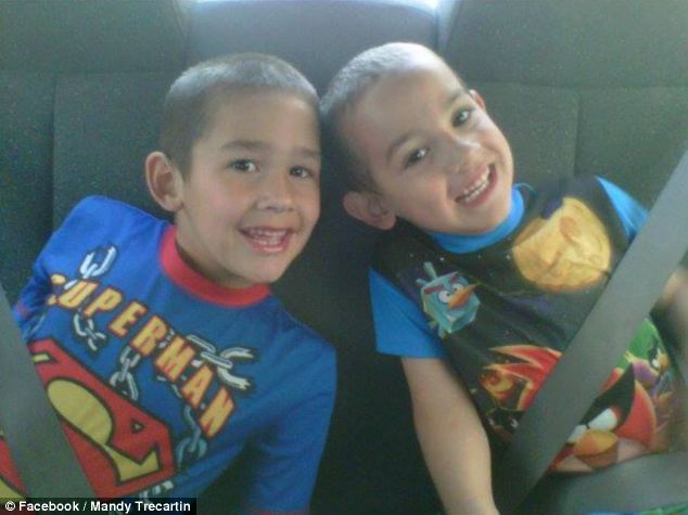 Tragic: Noah and Connor Barth were killed by a massive python in their sleep after it escaped from its cage