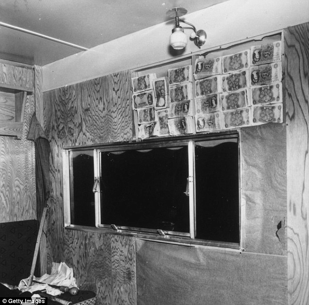 Hiding place: Police eventually found £35,000 stashed in the walls of a caravan owned by Great Train Robber James White