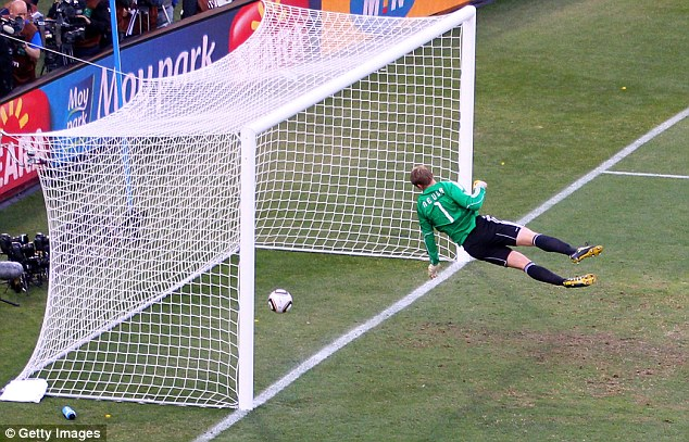 The catalyst for change: Frank Lampard's 'ghost goal' at the 2010 World Cup finally made Sepp Blatter change his mind on goal-line technology