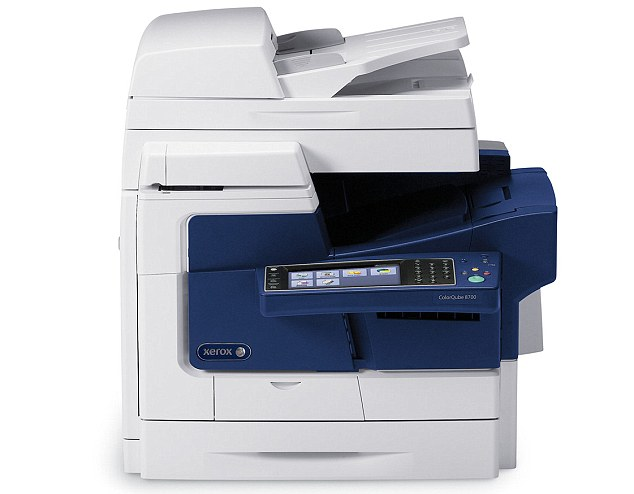 Numerous Xerox machines are affected by the glitch, including this ColorQube a 87XX / 89XX model