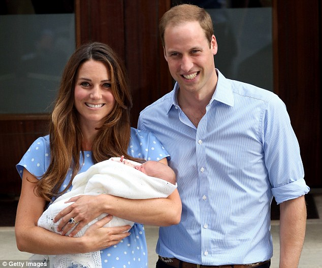 The Duchess of Cambridge, pictured holding Prince George as she leaves St Mary's Hospital in London with husband Prince William, is believed to have chosen a Beatrix Potter theme for her son's nursery