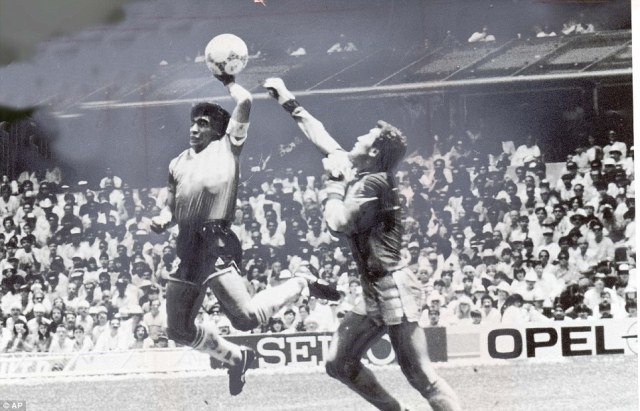 Image result for free photograph of maradona hand of God