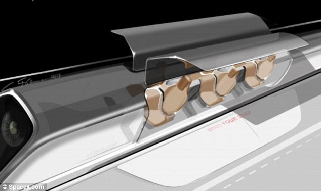 Pods: Doors will open on either side in the hyperloop machine for passengers to get on board