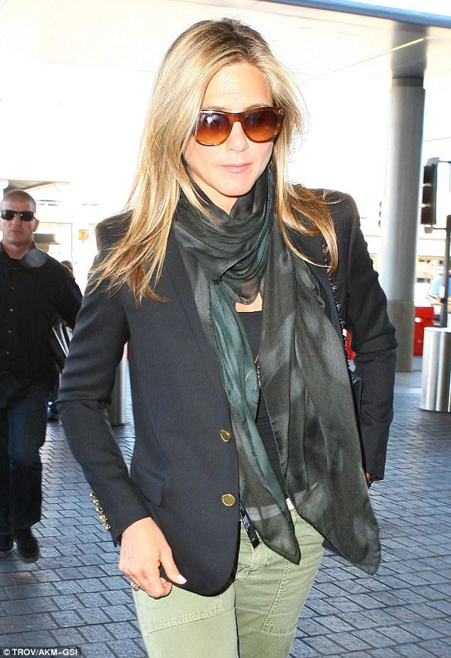 Sleek: The 44-year-old actress