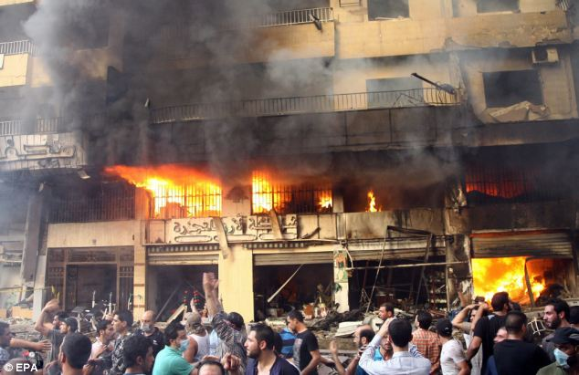 The blast, the second such explosion in just over a month in southern Beirut, set cars and buildings on fire