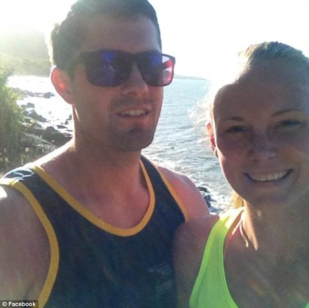 Promising student: Chris Lane and Sarah Harper had only just returned from a trip back to the 23-year-old's native Australia