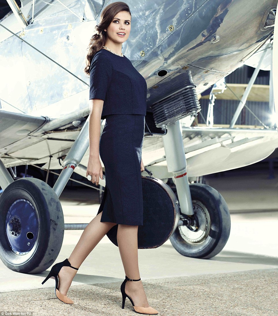 For every woman: The gorgeous models in the new images are sizes 10 and 14 - the range comes in 8-22