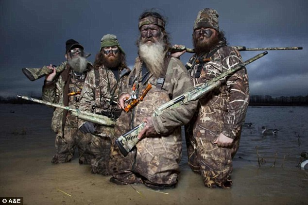 Big guns: The stars of Duck Dynasty are competing with scripted shows such as The Walking Dead