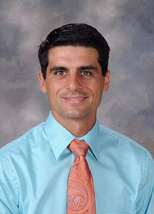Your highness: Calimesa Elementary School Principal Dana Carter had instituted a safety policy requiring students to kneel before him at various times during the school day