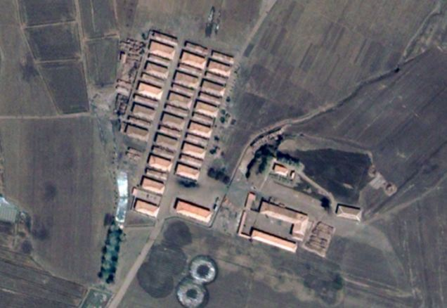 Isolation: A satellite image shows a camp in Haengyong, North Korea, where prisoners are thought to be held by the governmen