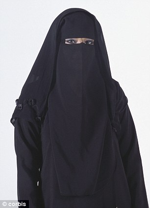 Under the veil: The judge said there is a risk that if a Muslim woman was allowed to cover her face with a veil in court a different person could pretend to be her (file photo)