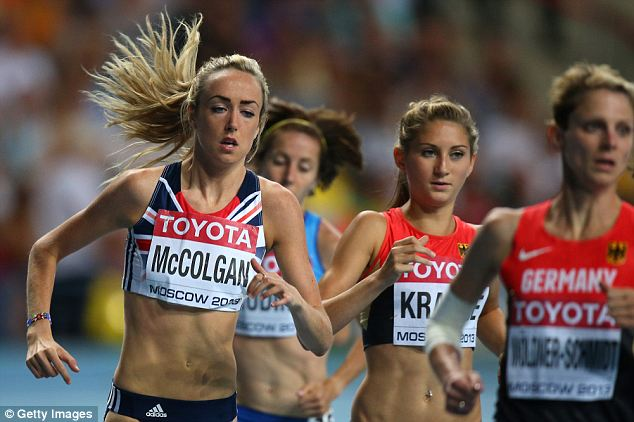 Strong finish: Eilish McColgan finished 10th in the 3000 metres steeplechase final at the World Championships
