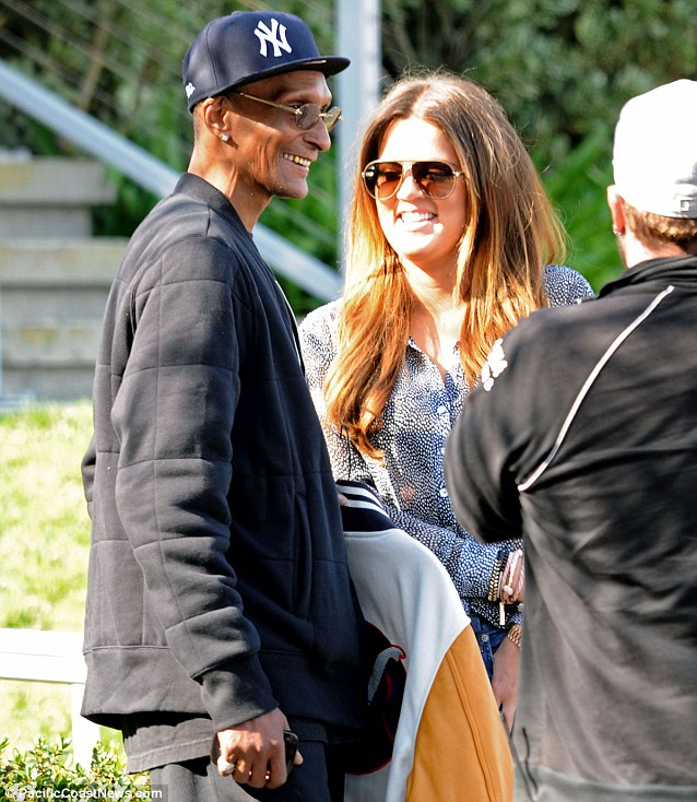 Getting to know you: Khloe Kardashian and Joe Odom filming a scene together for their reality show