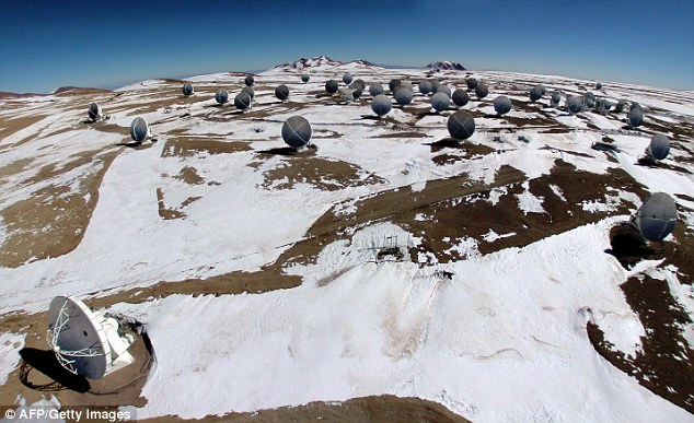 Arctic in the Atacama: The world's largest telescope is covered in snow in Earth's driest region after a rare downfall over the last few days