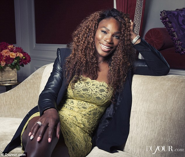 Opening up: Tennis pro Serena Williams spoke to DuJour magazine about body image and pressures growing up, her longstanding interest in fashion and love for France