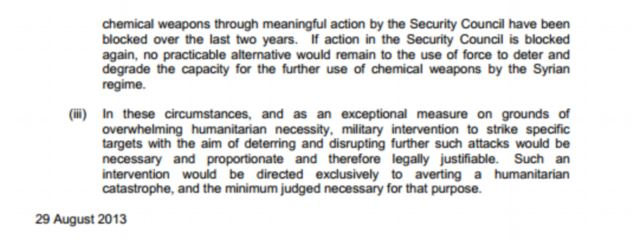 Page two of the legal advice released by the government