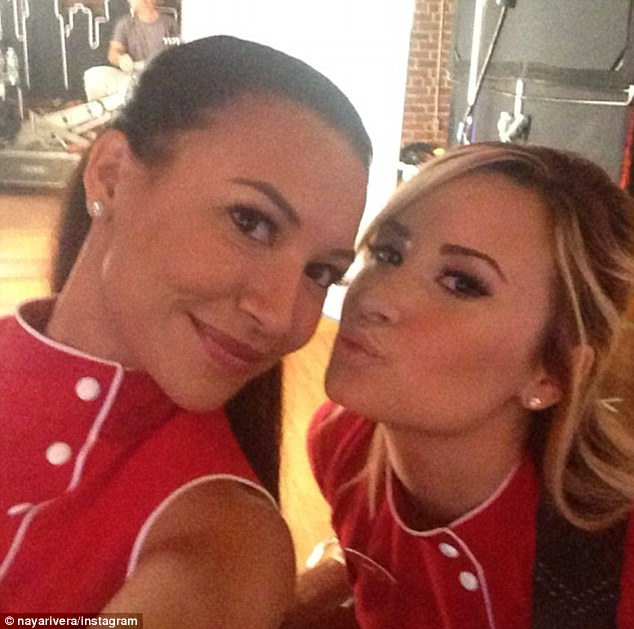 It's happening! Demi Lovato stormed the set of Glee on Thursday to take on the role of Naya Rivera's character's lover, marking a return to acting